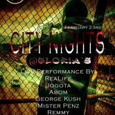 """City Nights"" w/ Seven da Pantha & more @ Glorias – Tacoma, WA."