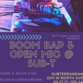 Boom Bap Open Mic @ Sub-T w/ Levis Stress & more – Chicago, Ill.