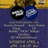 #SpringUP Tour w/ Alfred Banks, Marco Pave & more @ The Coffee Pot, Roanoke VA.